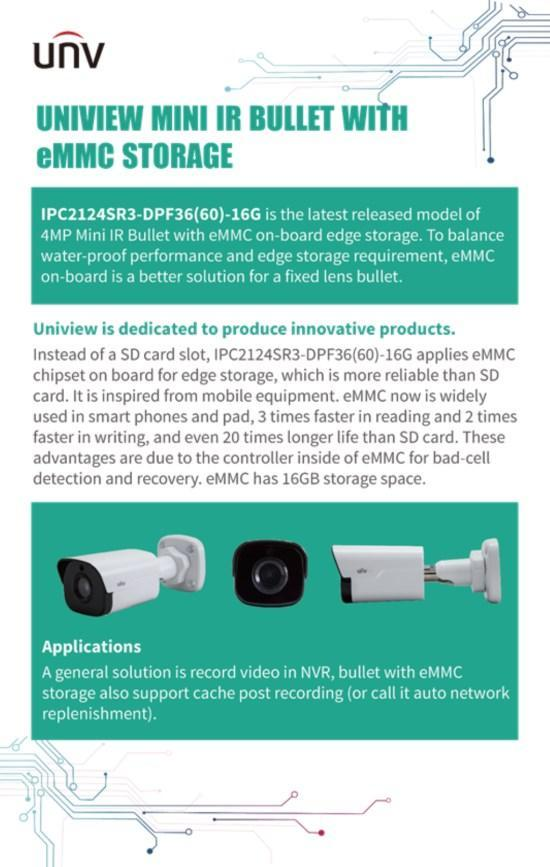 UNIVIEW Mini IR Bullet With eMMC Storage - Uniview Korea co., Ltd.